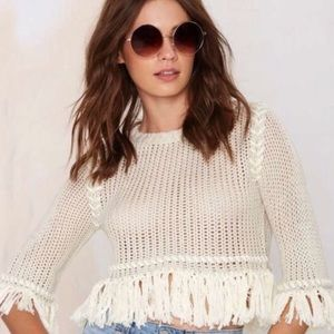 For Love and Lemons Cropped Sweater NWT